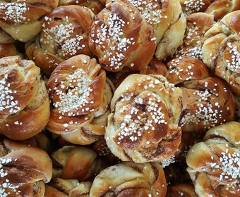 Swedish cinnamon rolls buns fika