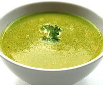 smooth, green vegetable soup PS