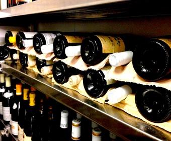 wine in wine cellar
