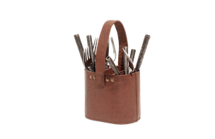 Cutlery holder - leather
