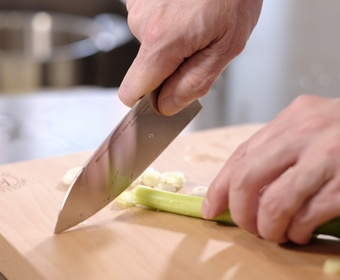 PS chef's knife in action