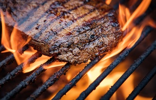 Flank steak on the grill PS
