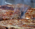 entrecote steaks on grill PS