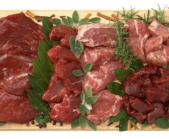 Assortment of game meat PS